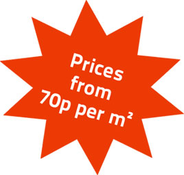prices from 70p per m2